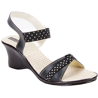 Azores Black Stylish Sandals