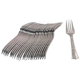 Ezee Steel finish Plastic Fork (50 Pieces)
