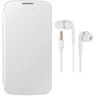 MuditMobi Premium Quality Flip Case Cover With Earphone For- Micromax Canvas Magnus A117 - White