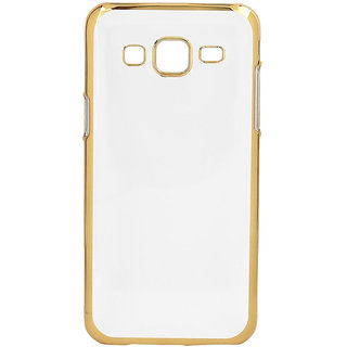 MuditMobi Stylish TPU Soft Silcon Back Cover For- Samsung Galaxy S Duos S7562- Transparent-Gold