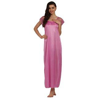 b94f296b3 Buy Miavii Pink Satin Printed Nighty Online   ₹429 from ShopClues
