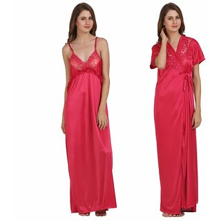 649b25378 Buy Miavii Pink Satin Solid Nighty Online - Get 57% Off