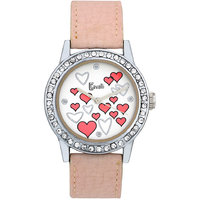 Cavalli White Dial With Pink Heart Print Watch-For Wome
