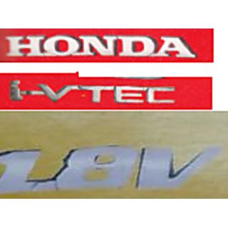 LOGO HONDA car CIVIC 1.8v I-VTEC MONOGRAM EMBLEM CHROMe