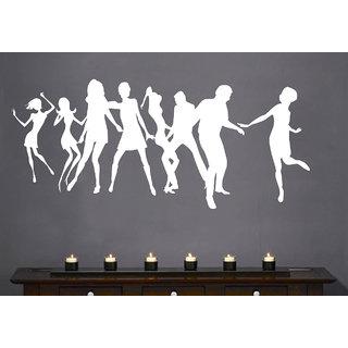 Creatick Studio Dancing Peoples Wall Sticker(44x19Inch)