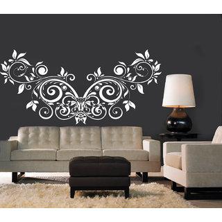 Creatick Studio Floral Creative Design Wall Sticker(28x14Inch)