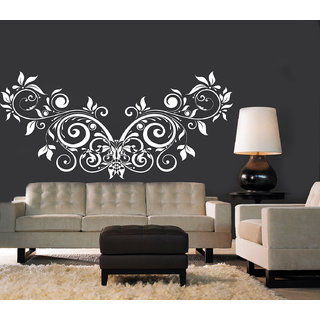 Creatick Studio Floral Creative Design Wall Sticker(48x24Inch)
