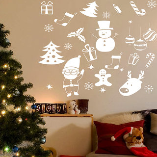 Creatick Studio Santas Christmas Gifts Wall Sticker(22x22Inch)