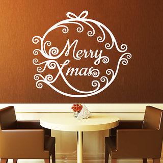 Creatick Studio Merry Xmas Wall Sticker(21x19Inch)