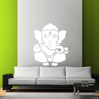 Creatick Studio Shree Ganesh Wall Sticker(32x43Inch)