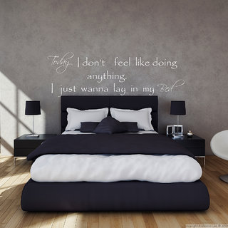 Creatick Studio Lay in my Bed Wall Sticker(35x11Inch)