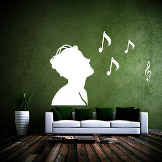 Creatick Studio Listens Music Wall Sticker(30x20Inch)