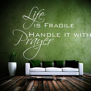 Creatick Studio Life Prayer Wall Sticker(23x15Inch)