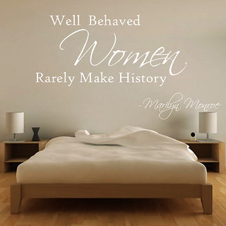 Creatick Studio Women Makes History Wall Sticker(18x10Inch)