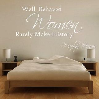 Creatick Studio Women Makes History Wall Sticker(27x15Inch)