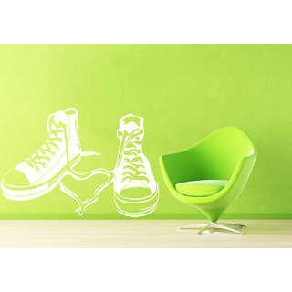 Creatick Studio Shoes Wall Sticker(18x10Inch)