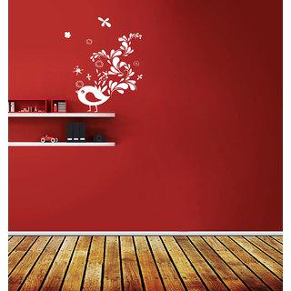 Creatick Studio Creative Sparrow Wall Sticker(27x36Inch)