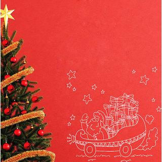 Creatick Studio Santa Claus Wall Sticker(38x35Inch)