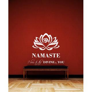 Creatick Studio Namaste Wall Sticker(33x29Inch)