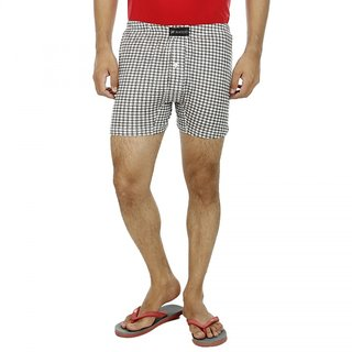 Wineberry Light Weight Men Boxers in Check design crafted with 100% cotton.
