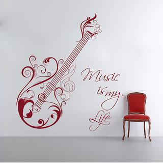 Creatick Studio  Music is my Life Wall sticker    (33x36Inch)