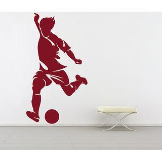 Creatick Studio  Men Hitting Ball Wall sticker(12x22Inch)