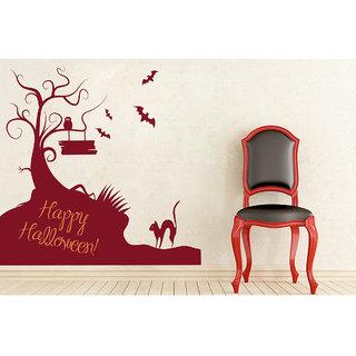 Creatick Studio  Happy Halloween Wall sticker (24x22Inch)