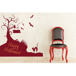 Creatick Studio  Happy Halloween Wall sticker (32x28Inch)