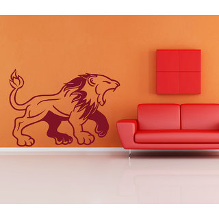 Creatick Studio  Lion Roars Wall sticker (22x15Inch)
