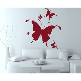 Creatick Studio  Coloured Butterfly Wall sticker (26x30Inch)