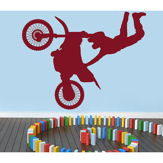 Creatick Studio  Flying Bicycle Wall sticker (30x23Inch)