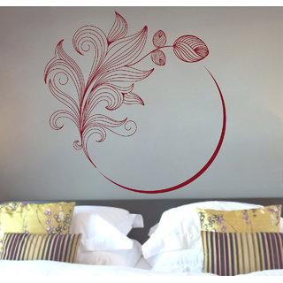 Creatick Studio  Flower Swirl Wall sticker (18x18Inch)