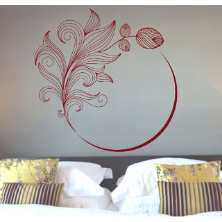 Creatick Studio  Flower Swirl Wall sticker (24x24Inch)