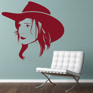 Creatick Studio  Female Portrait Wall sticker (38x36Inch)