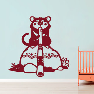 Creatick Studio  Tasmanian Wall sticker  (36x36Inch)
