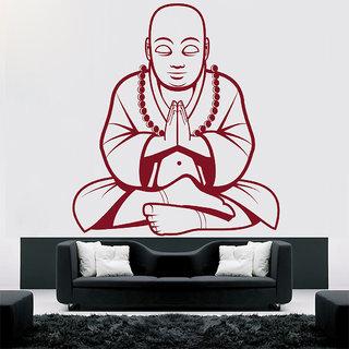 Creatick Studio  Buddha Wall sticker  (19x21Inch)