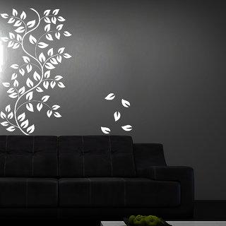 Creatick Studio Leaf Floral Wall Sticker(21x22Inch)