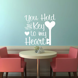 Creatick Studio Key To Heart Wall Sticker(21x30Inch)