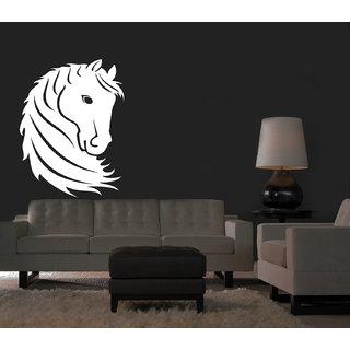 Creatick Studio Horse Head Wall Sticker(23x39Inch)