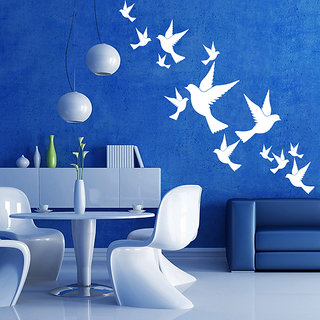 Creatick Studio Lovely Birds Wall Sticker(30x29Inch)