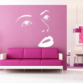 Creatick Studio Face Wall Sticker(21x22Inch)