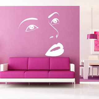 Creatick Studio Face Wall Sticker(38x37Inch)