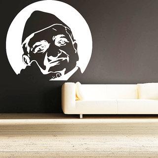 Creatick Studio Anna Hazaare Wall Sticker(20x18Inch)