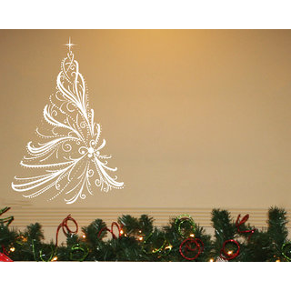 Creatick Studio Merry Christmas Wall Sticker(31x46Inch)
