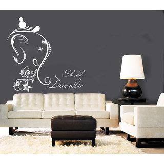 Creatick Studio Shubh Diwali Wall Sticker(32x30Inch)