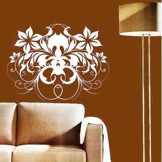 Creatick Studio Butterfly  Flower Decal(18x14Inch)