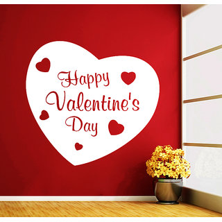 Creatick Studio Valentine Day Wall Sticker(14x13Inch)