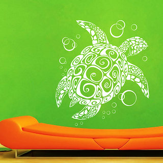 Creatick Studio Turtle Wall Sticker(24x26Inch)
