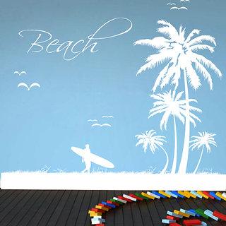 Creatick Studio Beach Wall Sticker(21x22Inch)