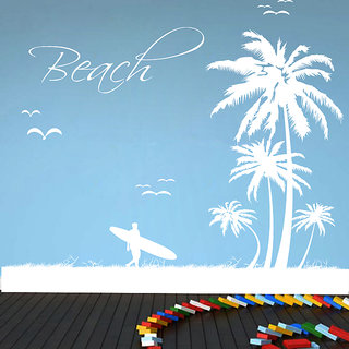 Creatick Studio Beach Wall Sticker(35x36Inch)